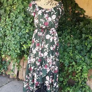 ModCloth NWT High-low floral dress Sz Medium
